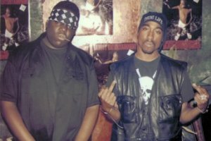 A still from the documentary <i>Biggie and Tupac</i>.