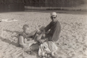 "Steve McKee camping with his father, John ""Mac"" McKee, in 1956. All photos courtesy McKee Family Collection."