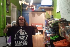 Roy Preston at the Little Lebowski Shop. All photos courtesy of Michael Gluckstadt.