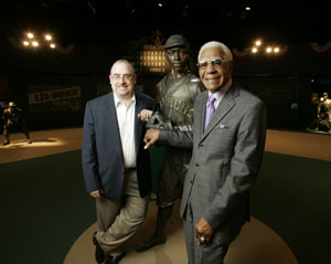 Joe Posnanski and Buck O'Neil at the Negro League Museum in Kansas City, Missouri