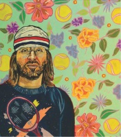 Art from Racquet No. 1: David Foster Wallace by Joan LeMay
