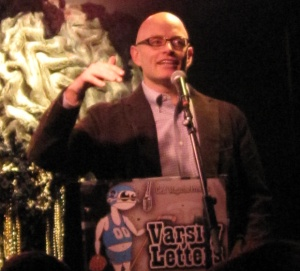 Henry Abbott. Photo by Gelf Magazine of Henry's appearance at the fifth anniversary Varsity Letters event in Feb. 2011.